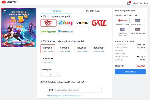 Mua thẻ Zing ngay tại nhà siêu ưu đãi cùng muathe.com.vn